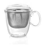 Tasse 300ml + Filtre inox + Couvercle en verre