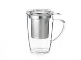 Tasse 350ml + Filtre inox + Couvercle en verre