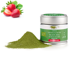 MATCHA FRAISE BIO - Poudre Matcha, arôme naturel/Matcha-Pulver, natürliches Aroma