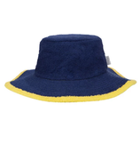 Frottee-Hut (Blau/Gelb)