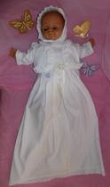 Taufset Familientaufkleid  mit Bolero und Haube Traditionell Mädchen o. Junge Größe 56-62.68.74.80.86.92  Artikelnummer 0025467245-69
