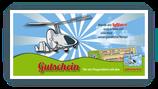 Gedruckter Gutschein für Schnupperflug