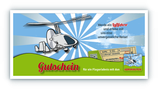 Gedruckter Gutschein für Rundflug