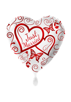 Ballon - Just Married – Weiß 71cm