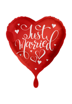 Ballon - Just Married – Rot 43cm