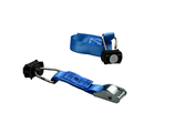 Klemslotband 25 mm interne sjorring met eindfitting voor airline rail