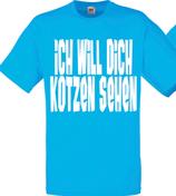 Kotzen sehen Shirt Blau