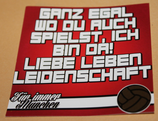 150 Aufkleber München Ganz egal