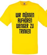 Aufhören weniger zu trinken Shirt Gelb