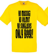 No Massagi Shirt Gelb