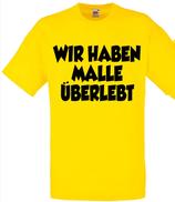 Malle überlebt Shirt Gelb