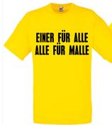 Einer für alle alle für Malle Shirt gelb