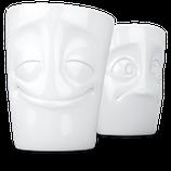 """FIFTYEIGHT 3D Becher Set """"vergnügt & verdutzt"""""""