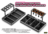 New HUDY Alu Tray for On-Road Diff & Shocks
