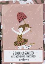 Einladungskarten-Set Zirkusmädchen (6 Karten) von Ava & Yves