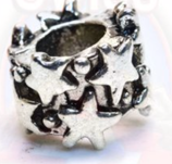 "Tibetsilber Bead ""Stars"""