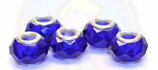 Glasbead Cristal blau (Acryl)