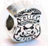 "Tibetsilber Bead ""Police"""