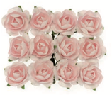 Röschen mit Draht Rosa