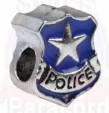 "Tibetsilber Bead ""Police blau"""