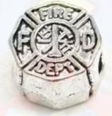 """Tibetsilber Bead """"Firefighter"""""""