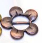 """Aufschieber Bead mit Ring """"Blume mit Steg"""" Antik"""