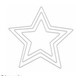 Metall-Stern weiss in zwei Grössen