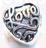 """Tibetsilber Bead """"Love Heart"""""""