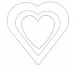 Metall-Herz Weiss in drei Grössen