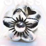 """Tibetsilber Bead """"Blüte"""""""