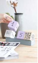 Calendar Cube Holz