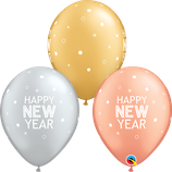 """6 Ballons Qualatex """"New Year Sparkles & Dots"""""""