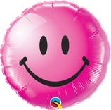 Ballon Alu Qualatex Smiley Magenta