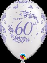 6 Ballons Qualatex 60ème Anniversaire de Mariage