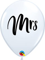 6 Ballons Qualatex Mrs Blanc
