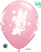 "6 Ballons Qualatex ""Bébé Minnie"" Pink"