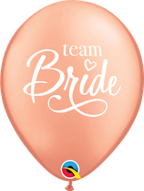 6 Ballons Qualatex Team Bride Rose Gold