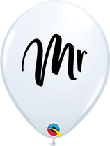 6 Ballons Qualatex Mr Blanc