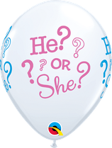 "6 Ballons Qualatex ""He? Or She?"""