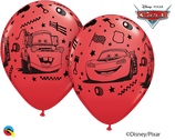 6 Ballons Qualatex Cars