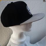 Flat Cap schwarz/grau