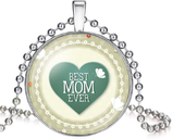 Collier rétro à cabochon 'Best MOM Ever'