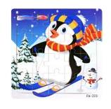 Puzzle bois 20 pièces pingouin