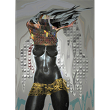 Kunstwerk: Torso Afrika feminin
