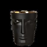 SIEGER by Fürstenberg, Prometheus, mattsatiniert, schwarz, Eisbehälter / Einzelflaschenkühler, gold