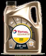 Garrafa de Aceite Total Quartz 9000 Energy 5W40 de 5 litros