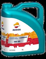 Lubricante Repsol CARRERA 5W-50 lata de 4 litros