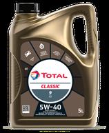 Garrafa de aceite Total Classic C3 9 5w40 5 litros (1 caja de tres garrafas de 5 litros)