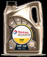 Garrafa de aceite Quartz 9000 energy 0w40 5 litros