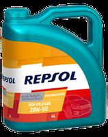 Lubricante Repsol PERFORMANCE HIGH MILEAGE 20W-50 lata de 4 litros